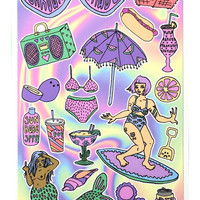 Beach Babe Sticker Set