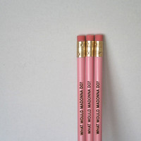 what would madonna do 3 three pink pencils by thecarboncrusader