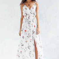 Oh My Love Floral Chiffon Maxi Dress