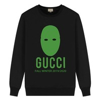 GUCCI  New fashion letter print couple long sleeve top sweater Black