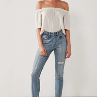 Levi's 721 High-Rise Skinny Jean - Seamed Denim | Urban Outfitters