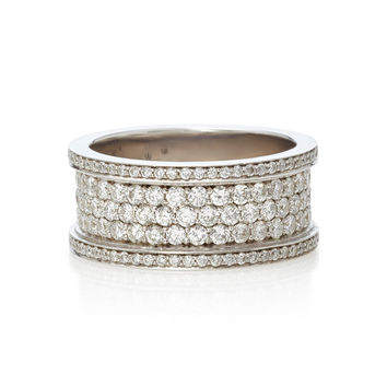 Baby Cigar 14K White Gold and Diamond Ring | Moda Operandi