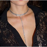 Fashion accessories are full of female neck and neck chain necklace