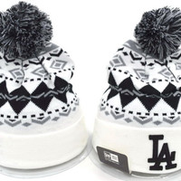 LA Women Men Embroidery Beanies Winter Knit Hat Cap
