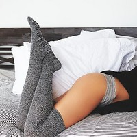 Free People Womens Inner Circle Thigh High Sock