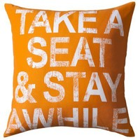 """TOO by Blu Dot Multicolor Dec Pillow Take a seat  - 18""""X18"""""""