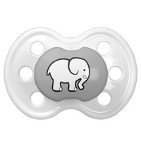 Elephant Pacifier Gender Neutral Baby Shower Gifts