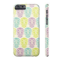 Sugar Skull Print Phone Case (lime, lilac, turquoise)