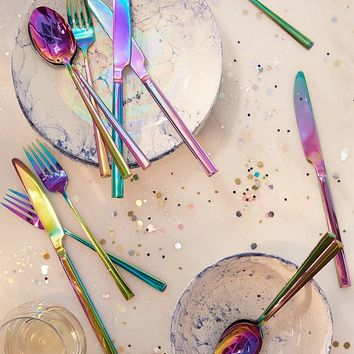 12-Piece Electroplated Flatware Set   Urban Outfitters