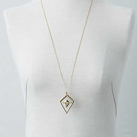 AEO Triangle Pendant Necklace, Gold
