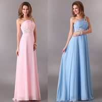Grace Karin A-line Robe De Soiree Long Chiffon One Shoulder Wedding Party Formal Evening Gowns Prom Dresses = 1955599748