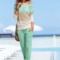 Ankle-length Beach Pant in Linen