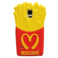Soft Gel Rubber Chips Mcdonald 3D French Fries Silicon Phone Protection Case Cover for Samsung Galaxy S5 i9600