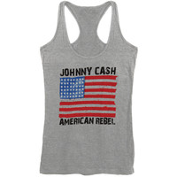 Johnny Cash Women's  American Rebel Womens Tank Heather