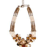 Brown mix collar necklace