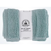 Disney Parks Mickey Icon Cotton Wash Cloths Set of 4 Light Blue New With Tags