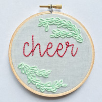 cheer and mistletoe hoop
