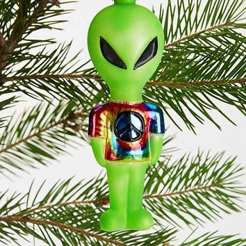 We Come In Peace Alien Ornament- Green One