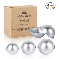 Fiery Youth DIY Metal Bath Bomb Mold with 3 Size 4 Set 8 Pieces ✮ Relaxation and Save Your Mony ✮ Mix Your Own Recipes ✮ Easy to Make Perfect Bath Bomb