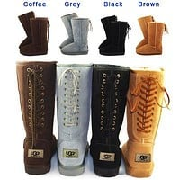 U UGG hot seller of casual women's snow boots, fashionable boots with high straps