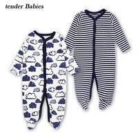 2018 Newborn Infant Baby Rompers Spring Autumn Baby Clothing Long Sleeve Baby Body Suit Kids Boys Girls Rompers Baby Clothes