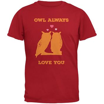 Valentine's Day - Paws - Owl Always Love You Red Youth T-Shirt