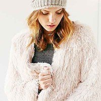 Ecote Furry Duster Coat - Urban Outfitters