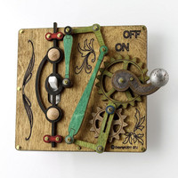 Single levered Light Switch Plate by GreenTreeJewelry on Etsy