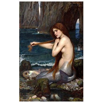 John William Waterhouse Mermaid Art Poster 11x17