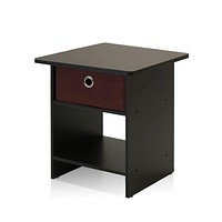 End Table/Night Stand With Storage Shelf By Furinno