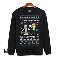 rick and morty ugly christmas Sweatshirt Sweater Unisex Adults size