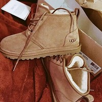 UGG Fashion New Mens Snow Boots Shoes Brown