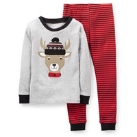 Christmas 2-Piece Snug Fit Cotton PJs