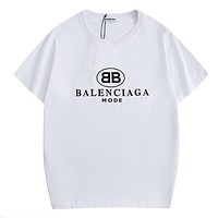 Balenciaga hot seller of stylish printed tops and casual couple t-shirts White