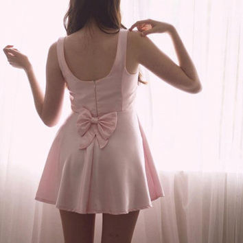 Pink Satin Baby Doll Dress