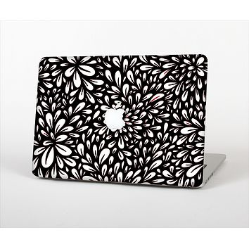 The Black Floral Sprout Skin Set for the Apple MacBook Pro 13""