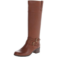 Bandolino Womens Cavendish Leather Wide Calf Riding Boots