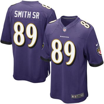 Youth Baltimore Ravens Steve Smith Sr Nike Purple Team Color Game Jersey