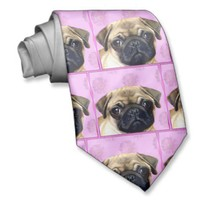 Pug dog necktie from Zazzle.com