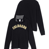 University of Colorado Boyfriend Half-Zip - PINK - Victoria's Secret