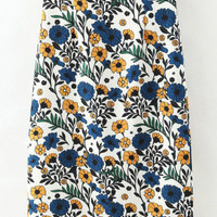 Multi-Color Floral Printed Pencil Skirt