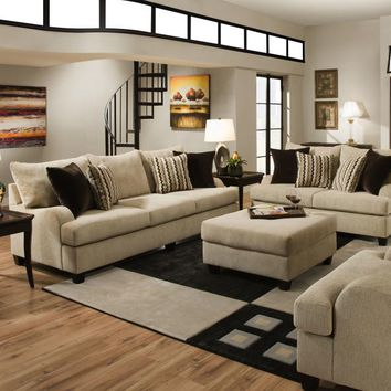 Simmons 8520 2 Piece Living Room Set