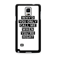 Personalised AM song lyrics Samsung Galaxy Note 4 Case