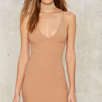 First Things First Ribbed Mini Dress - Tan
