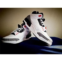 "Air Jordan 3 ""Infrared 23"" white black Basketball Shoes 40-47"