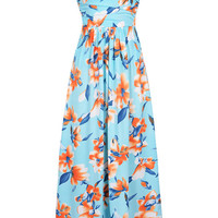Cupshe Feeling Bloom Strapless Maxi Dress