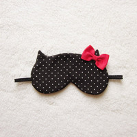Winter Edition Red Bow Cat Mask