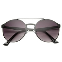 Retro Steampunk Fashion Round Metal Sunglasses 9818