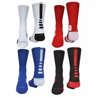 Solid High Elastic high quality cotton socks Professional towel bottom basket ball socks for men 05