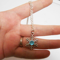Once Upon A time Abc fairytale Disney Frozen Anna Snowflake Necklace elsa fantasy jewelry girls jewelry